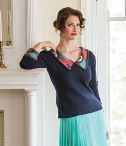 Floral Finery Pullover Knitting Pattern DownloadImage