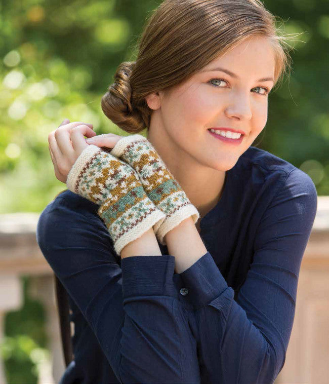 Fair Isle Wristlets Knitting Pattern DownloadImage