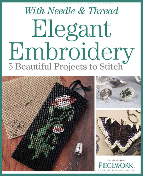 Elegant Embroidery eBook with 5 Beautiful Projects to Stitch Image