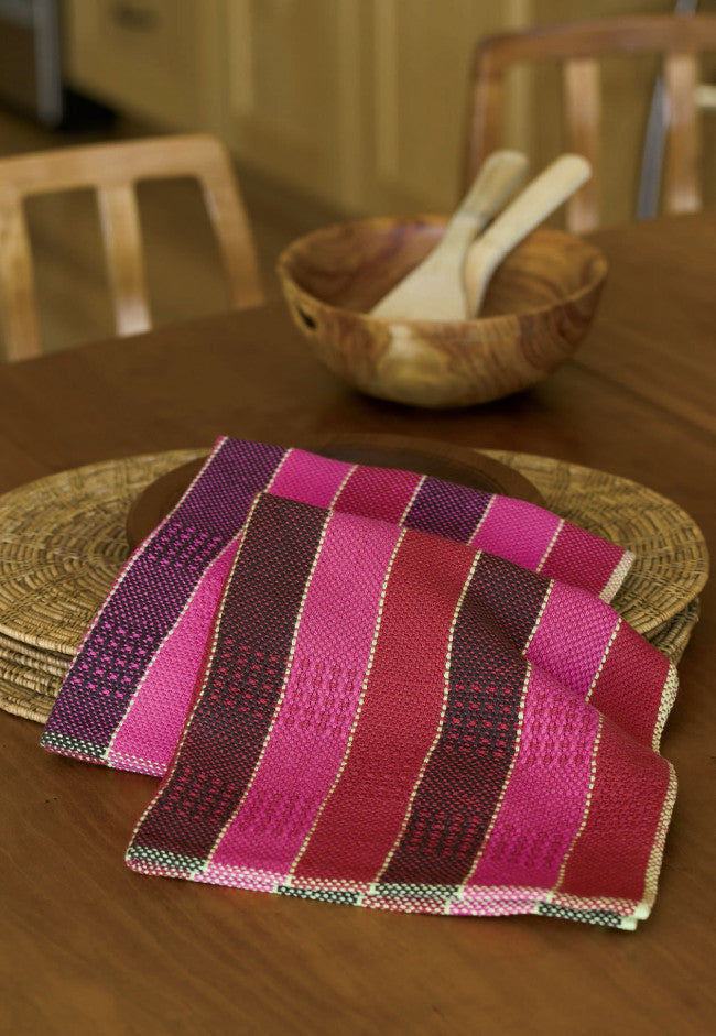 Striped Napkins with Pick-up Weaving Pattern DownloadImage