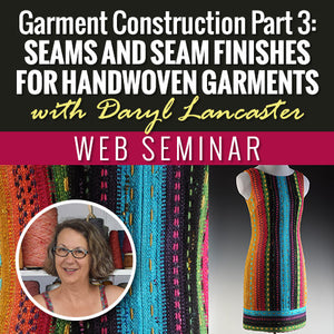 Garment Construction Part 3: Seams and Seam Finishes for Handwoven GarmentsImage