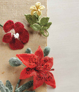 Tiger Lily, Scarlet Geranium, and Yellow Jessamine: Flowers to Knit Knitting Pattern DownloadImage