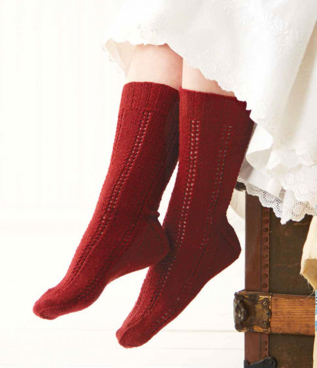 1847 Stockings for a Lady Knitting Pattern DownloadImage