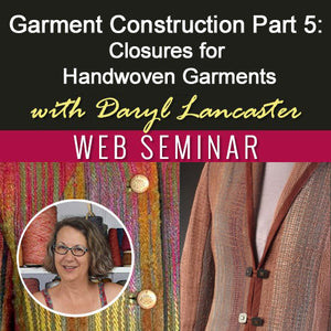 Garment Construction Part 5: Closures for Handwoven GarmentsImage