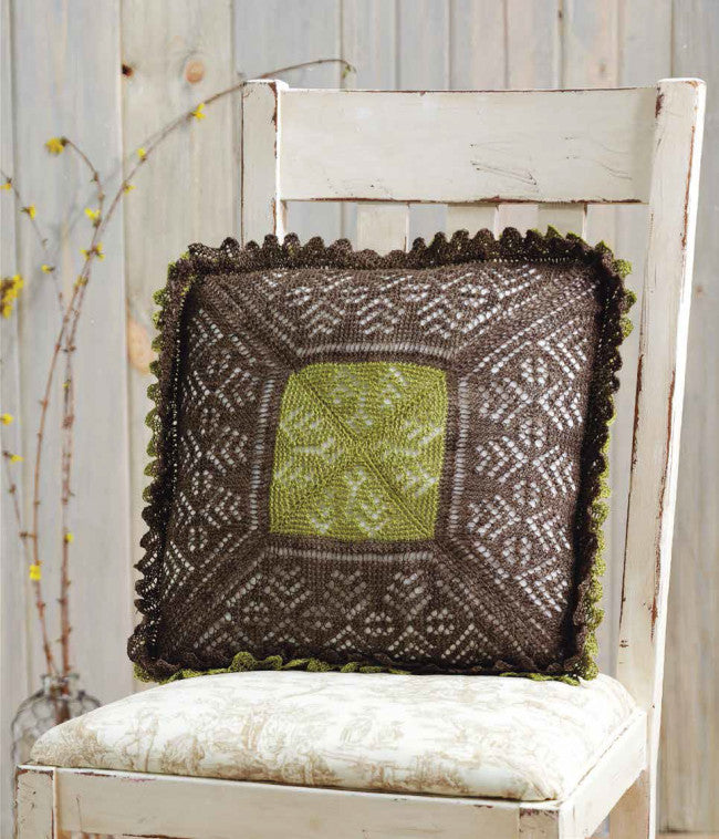 A Lace Pillow a la Orenburg to Knit Knitting Pattern DownloadImage
