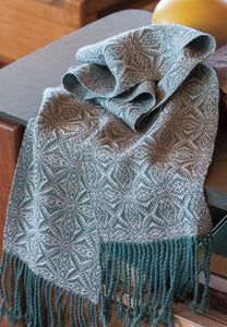 American Snowflake Scarf Weaving Pattern DownloadImage