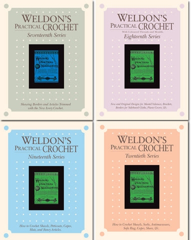 Weldon's Practical Crochet, Series 17-20 Set eBook from PieceWorkImage