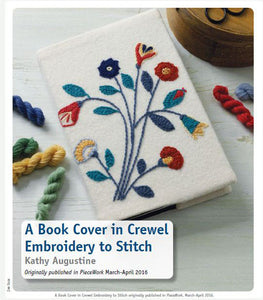 A Book Cover in Crewel Embroidery to Stitch Pattern DownloadImage