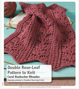 Double Rose-Leaf Pattern to Knit Knitting Pattern DownloadImage