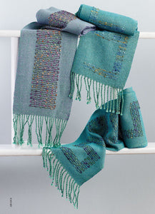 Iridescent Inlaid Scarves by Line DuFour Weaving Pattern DownloadImage