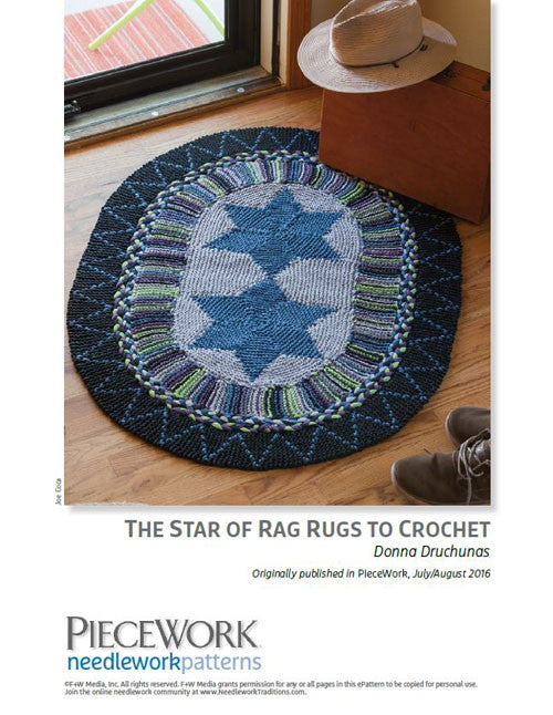 The Star of Rag Rugs to Knit Knitting Pattern DownloadImage