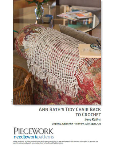 Ann Rath's Tidy Chair Back to Crochet Pattern DownloadImage