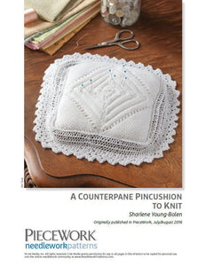 A Counterpane Pincushion to Knit Knitting Pattern DownloadImage