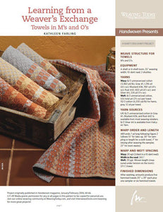 Learning from a Weavers' Exchange: Towels in M's and O's Pattern DownloadImage