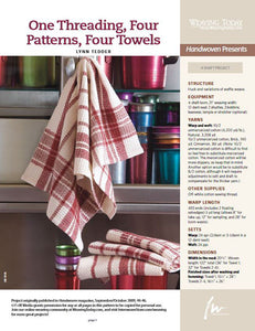 One Threading, Four Patterns, Four TowelsImage
