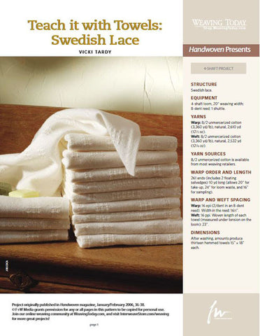 Teach it With Towels: Swedish LaceImage