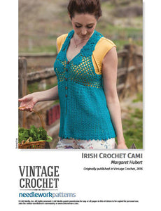 Irish Crochet Cami Crochet Pattern DownloadImage