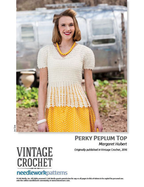 Perky Peplum Top Crochet Pattern DownloadImage