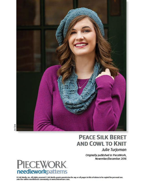 Peace Silk Beret and Cowl to Knit Knitting Pattern DownloadImage