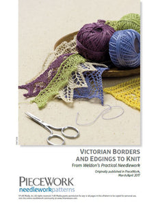 Victorian Borders and Edgings to Knit Pattern DownloadImage