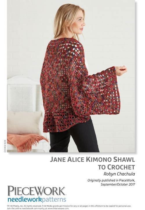 Jane Alice Kimono Shawl to CrochetImage