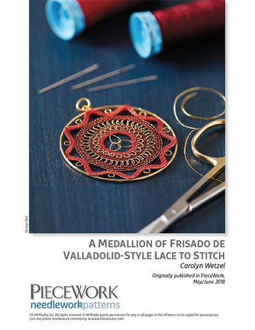 A Medallion of Frisado de Valladolid-Style Lace to Stitch DownloadImage