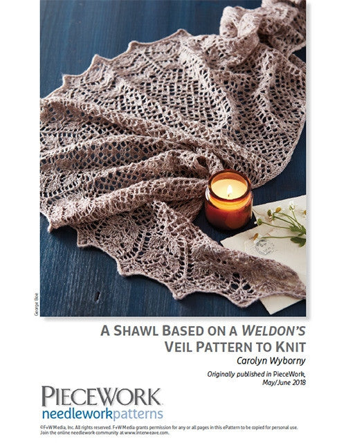 A Shawl Based on a Weldons Veil Pattern to Knit DownloadImage