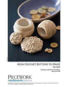 Irish Crochet Buttons to Make DownloadImage
