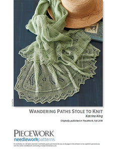 Wandering Paths Stole to Knit Pattern DownloadImage