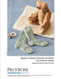 Babys Fancy Socks to Knit Pattern DownloadImage