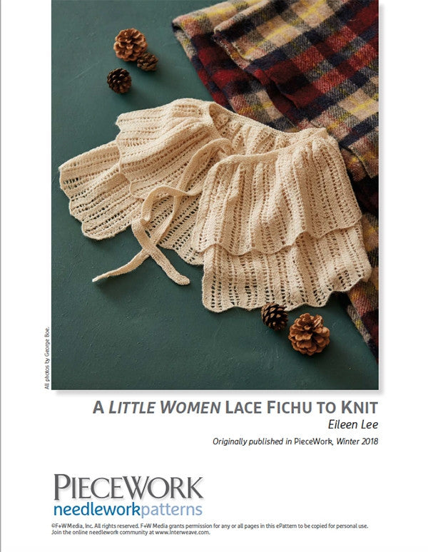 A Little Women Lace Fichu to Knit Pattern DownloadImage