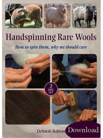 Handspinning Rare Wools Video DownloadImage