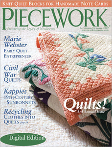 PieceWork, September/October 2007 Digital EditionImage