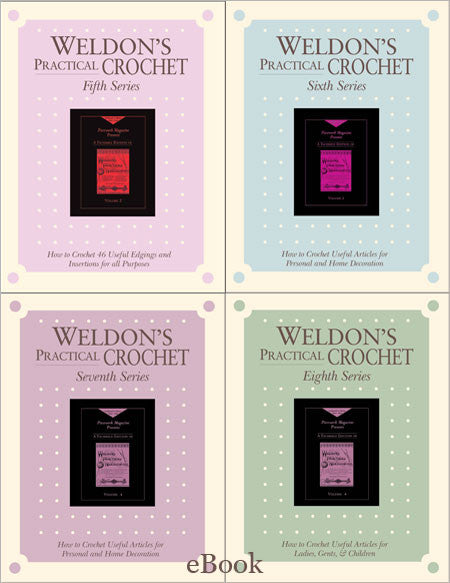 Weldon's Practical Crochet Series 5-8 Set eBookImage