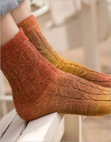 Pilaster Socks Knitting Pattern DownloadImage