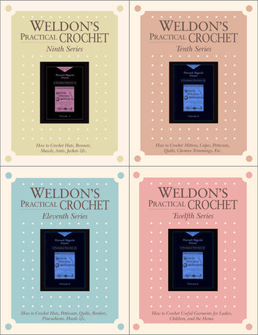 Weldon's Practical Crochet, Ninth-Twelfth Series Set eBookImage