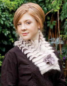 Pleated Neckscarf Knitting Pattern DownloadImage