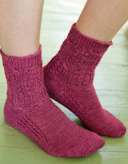 Mistress of Donwell Abbey Socks Knitting Pattern DownloadImage