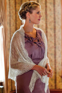 The Lacy Triangular Knitted Shawl PatternImage