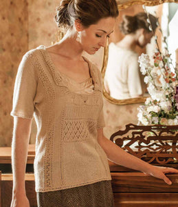 Lacy Afternoon Tea Knitted Blouse PatternImage