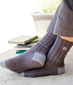 Edmund Bertram's Monogrammed Knitted Socks Knitting Pattern DownloadImage