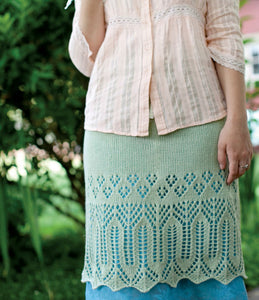 Emma's Lace Knitted Skirt Knitting Pattern DownloadImage