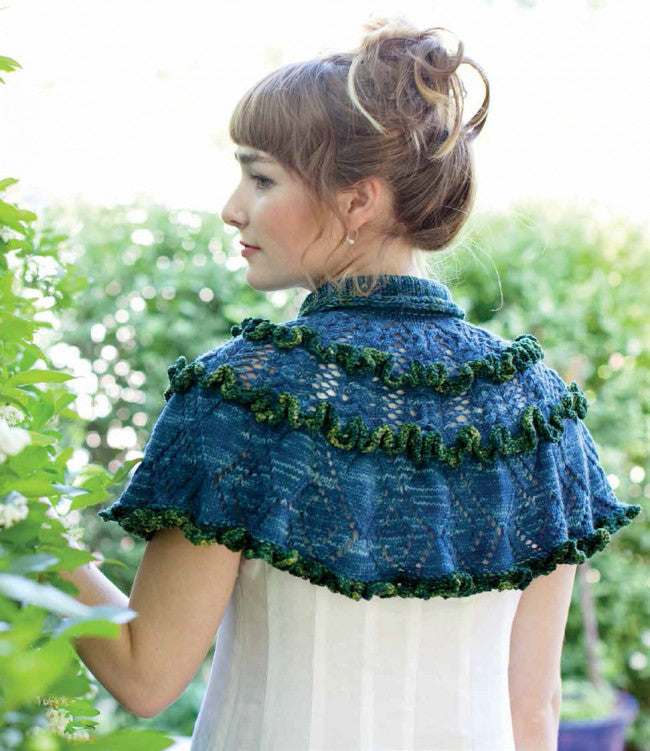 Ruffled Knitted Capelet Knitting Pattern DownloadImage