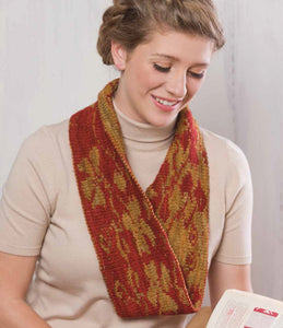 A Red Poppy Cowl to Knit Knitting Pattern DownloadImage