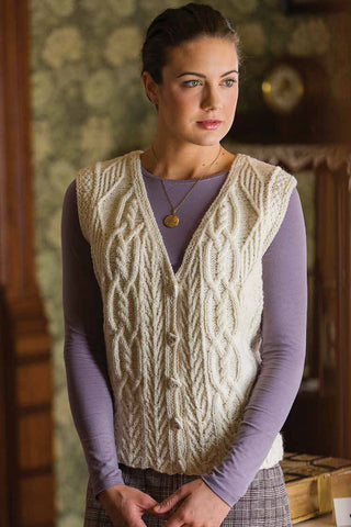 Tree of Life Aran Vest Knitting Pattern DownloadImage