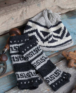 Salish Fusion Fingerless Gloves and Salish Fusion Toque Knitting Pattern DownloadImage