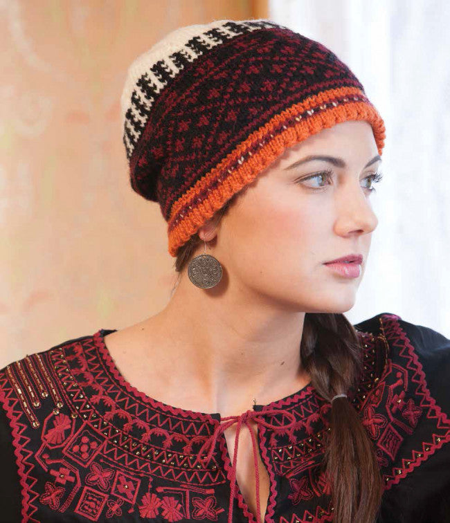 Colorwork Hat from Macedonia Knitting Pattern DownloadImage