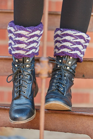 Jacquard Boot Toppers Knitting Pattern DownloadImage