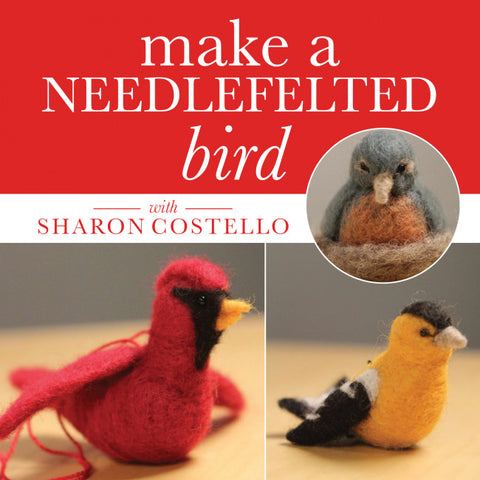 Make a Needlefelted Bird with Sharon Costello Video DownloadImage
