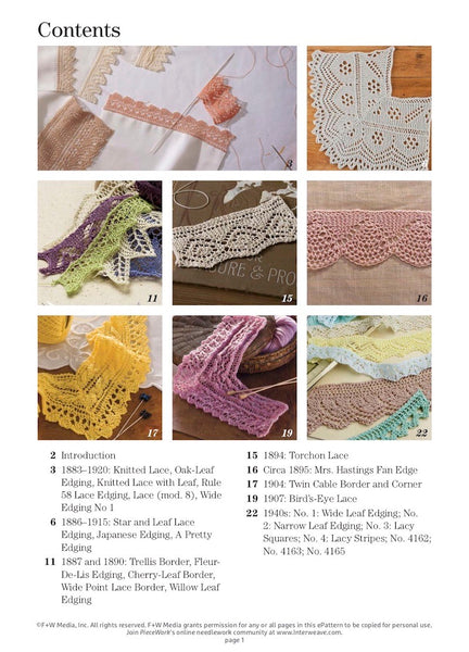 A Lace Revival: 25 Vintage Edgings to Knit eBook